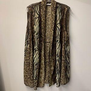 Susan Graver animal print sleeveless tunic